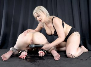 Defenseless Arielle Squirts Puddles in Bondage