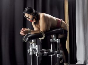 Nude Nadia White, Inescapably Bound with Rope, Prays for Orgasm
