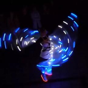 weihnachtsfeier ideen-firmenfeier-lichtshow-led lichtshow-heidelberg-sabrina wolfram-feuershow