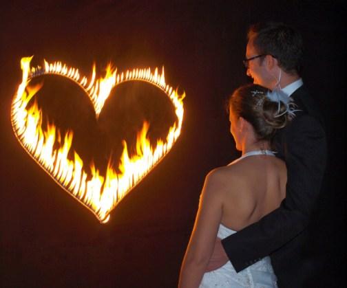 Feuerherz Hochzeit