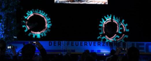 LED Show Firmenlogo Inszenierung