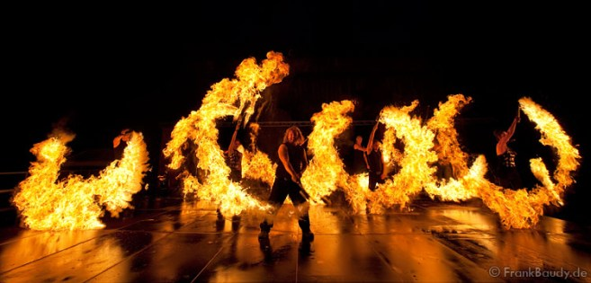 Feuershow SAM&more Shoppingnacht