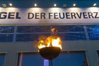 Flammschale Feuershow