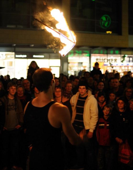 Feuerpfeil bei Paderborner Feuerzauber