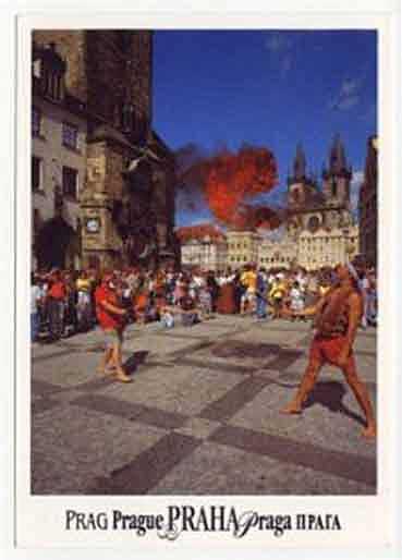 Postkarte Prag Sam