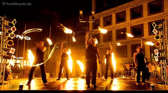 Stuttgart City leuchtet! Feuershow