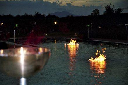 Feuerdekoration Brennendes Wasser