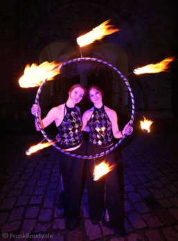 Feuer Hula Hoop Performance