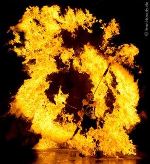 Feuershow Flammeneffekt