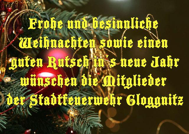 Frohe Und Gesegnete Weihnachten.Frohe Und Gesegnete Weihnachten Feuerwehr Gloggnitz