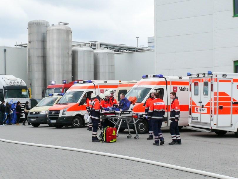 Übung der Feuerwehr Lohne am 11. April 2015