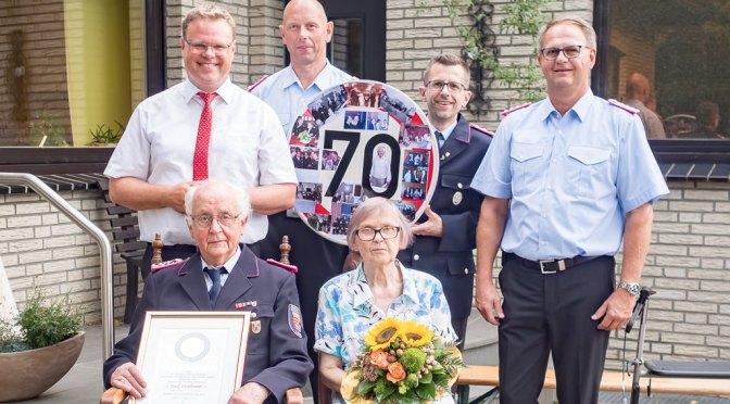 70 Jahre im Dienst der Freiwilligen Feuerwehr