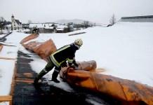 """Sturmtief """"Andrea"""" - Sturmschäden in Mieming, Foto: Freiwillige Feuerwehr Mieming"""