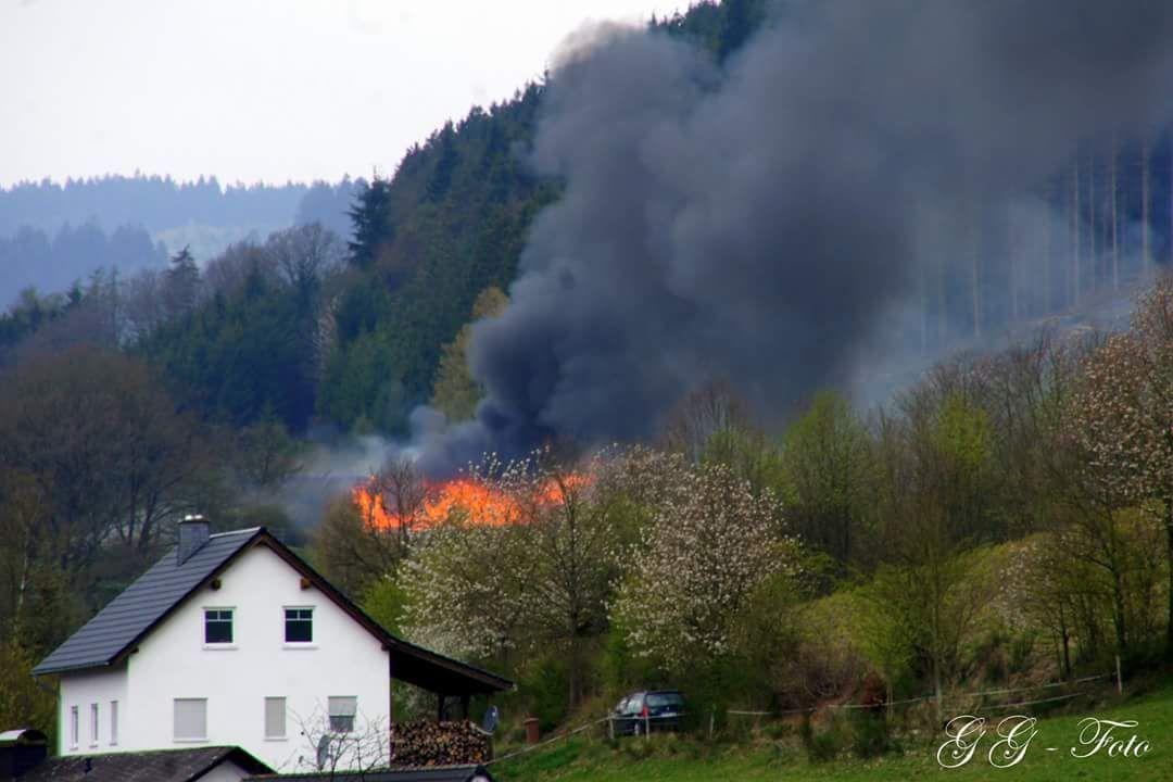 Scheunenbrand Karfreitag in Fleckenberg
