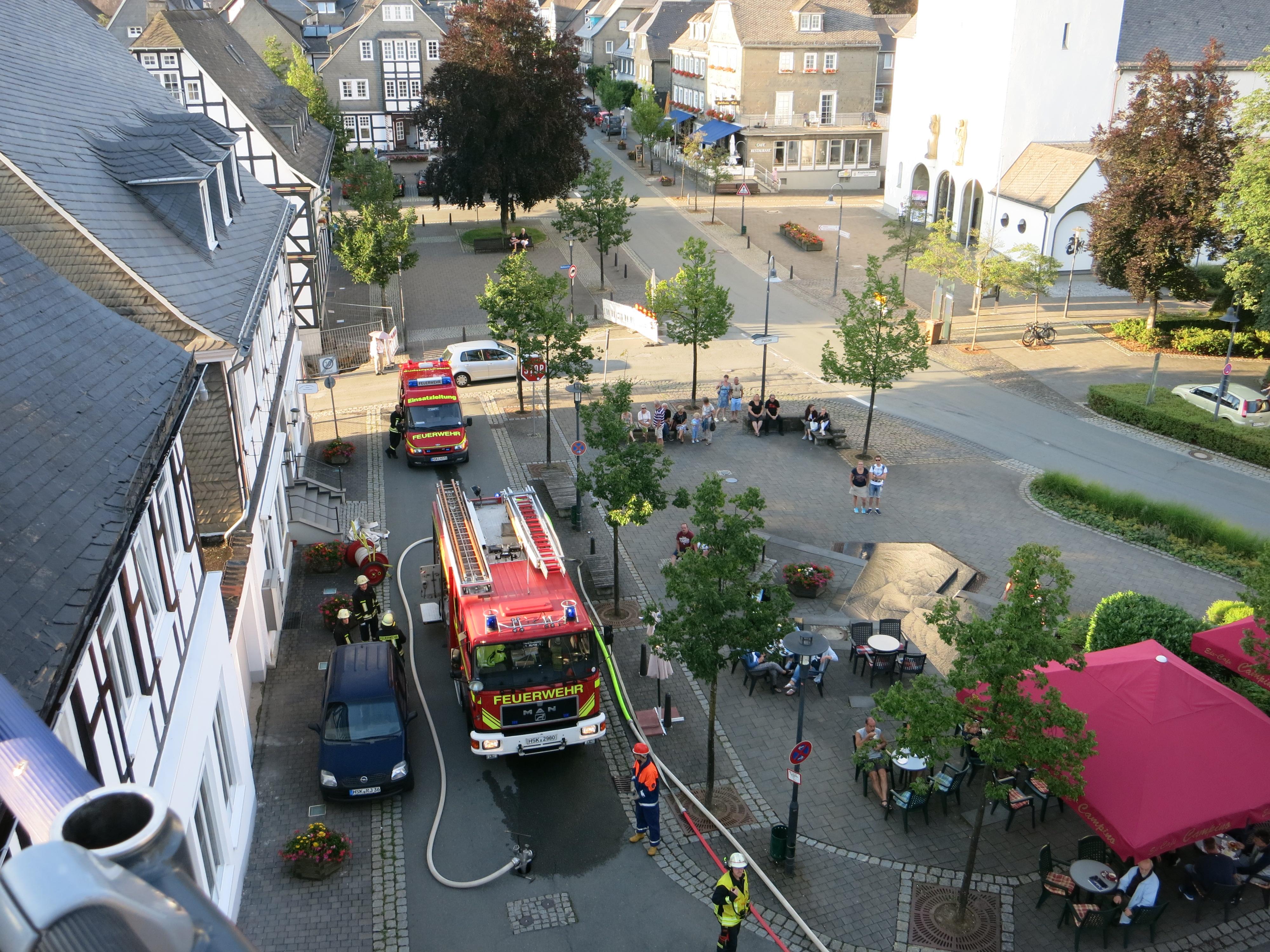 Übung in der Bad Fredeburger Altstadt