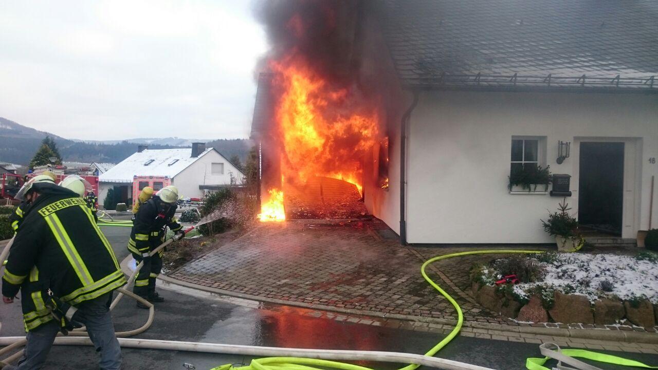 Brandeinsatz Ziegelweg in Schmallenberg am 05.02.2018
