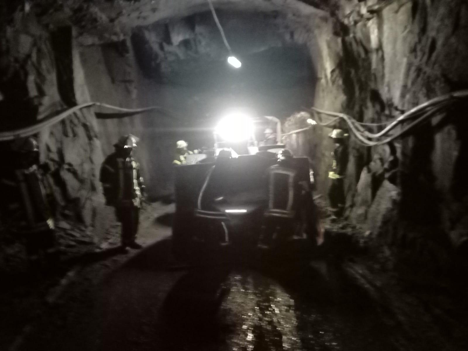 Gemeinsame Übung des Löschzuges Bad Fredeburg mit der Grubenwehr der Hauptstelle für das Grubenrettungswesen Herne