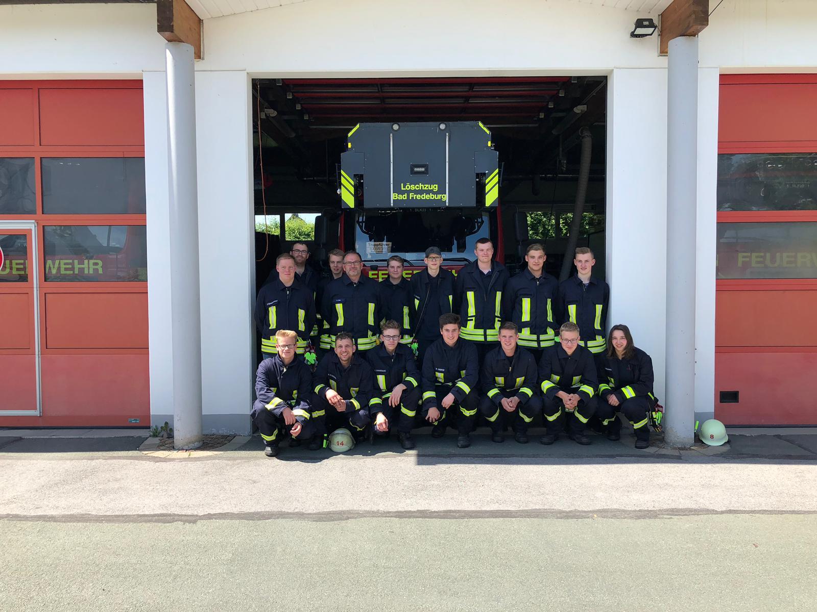 Grundlehrgang erfolgreich absolviert – die Bürger der Stadt brauchen die jungen Feuerwehrleute