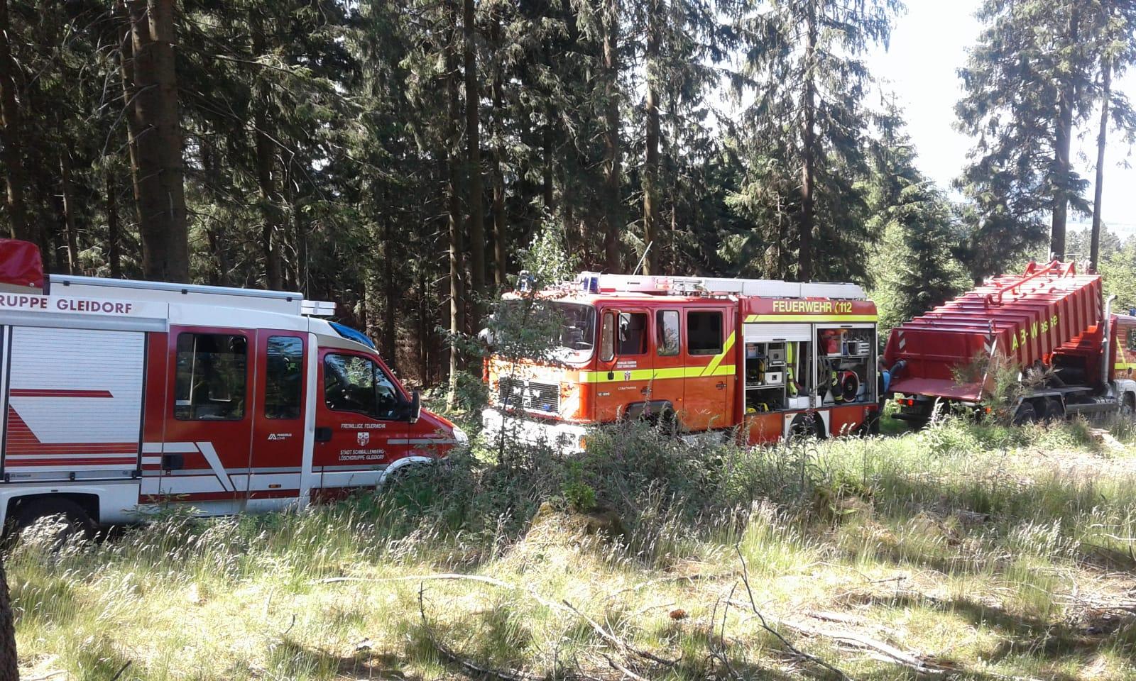 Waldbrand in Bad Fredeburg