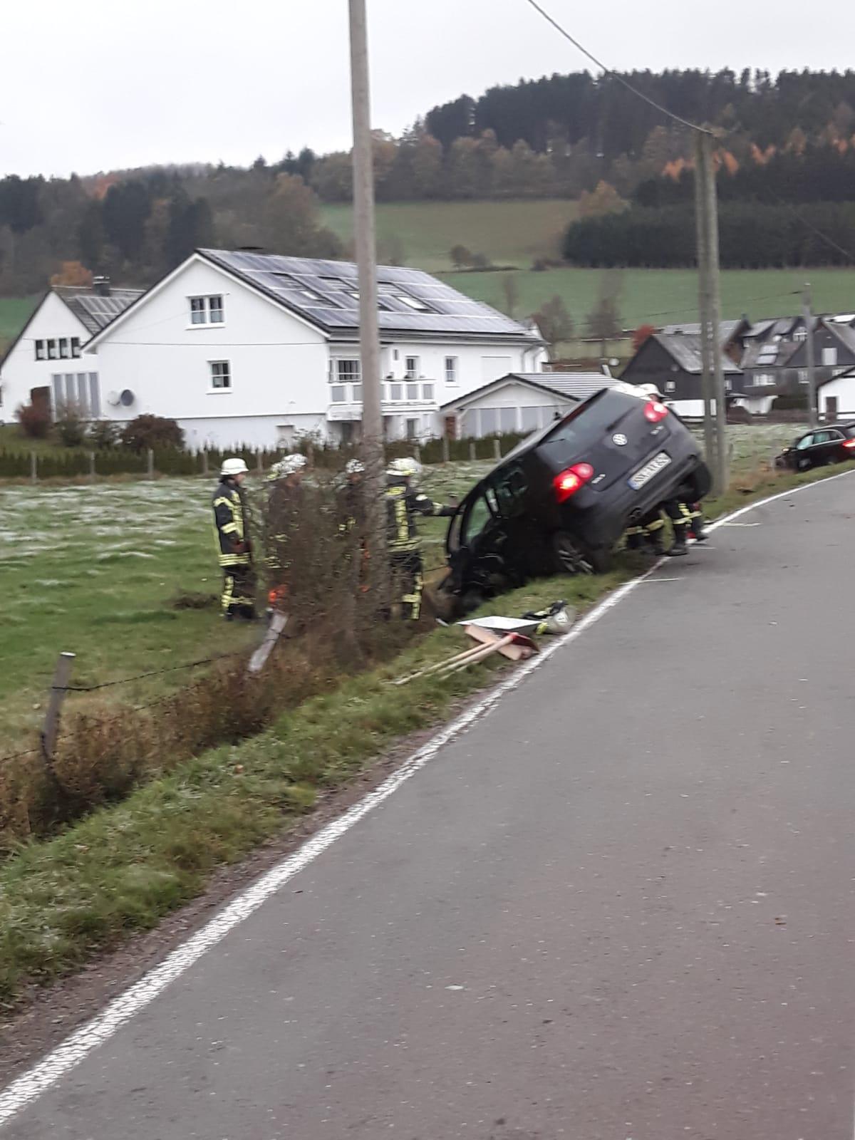 Verkehrsunfall bei Menkhausen