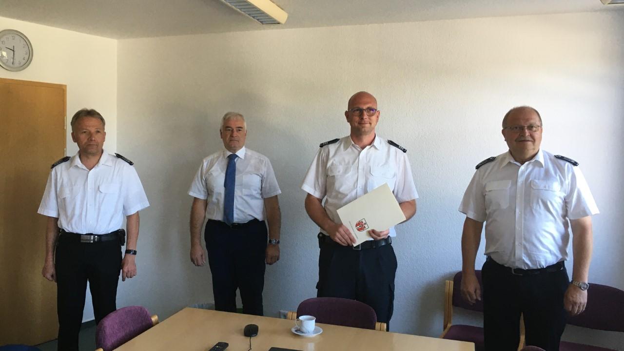 Stadtbrandinspektor Stefan Kaiser zum neuen stellv. Leiter der Freiwilligen Feuerwehr ernannt