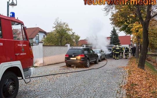 Abgestelltes Fahrzeug komplett ausgebrannt