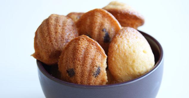 Mini madeleines au chocolat - Feuille de choux