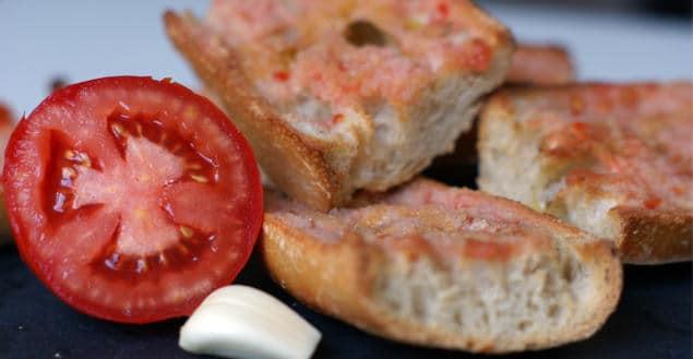 Pan con tomate recette tapas espagnol - Feuille de choux