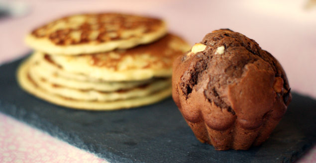 Les muffins double chocolat super gourmands! Feuille de choux