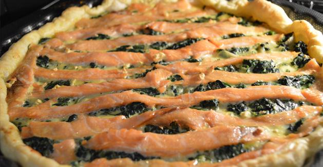 Quiche saumon épinard - Feuille de choux