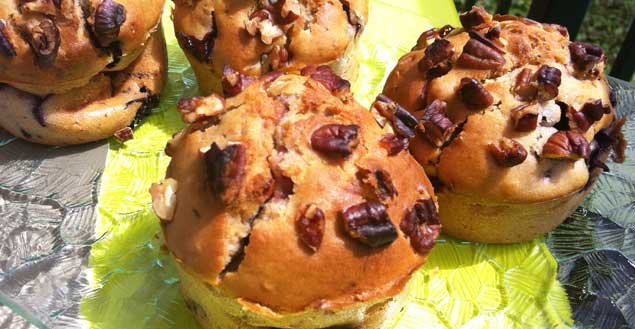 Muffins fruits rouges recette dessert Feuille de choux