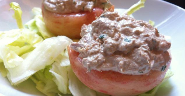 Peches au thon recette entrée peche et thon - Feuille de choux