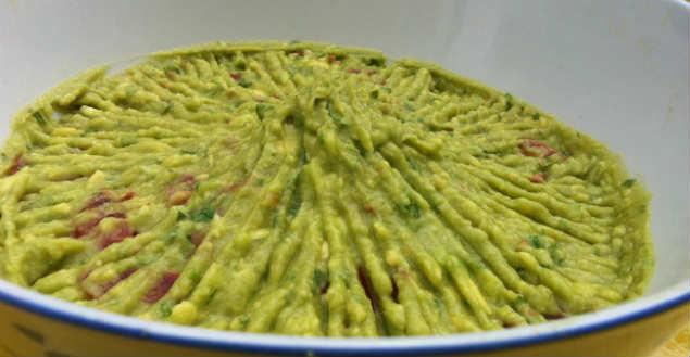 Recette de guacamole mexicain- Feuille de choux