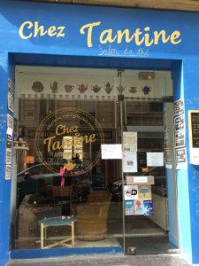 Vitrine chez tantine salon de thé paris- Feuille de choux