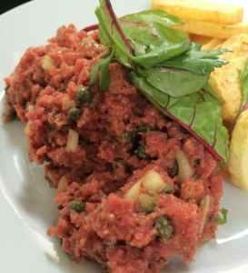 steak tartare les philosophes restaurant paris - Feuille de choux