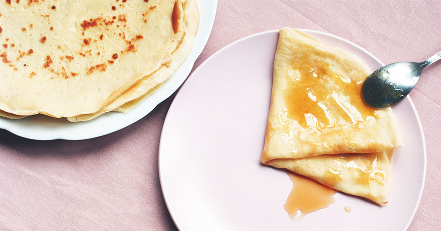 crepe sans sucre, recette pour la chandeleur - feuille de choux