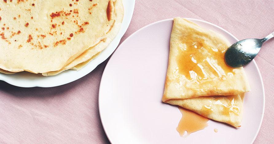 Crêpe sans sucre – vanille coco