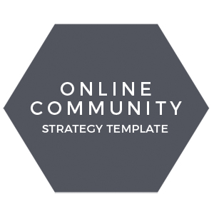Online community strategy template