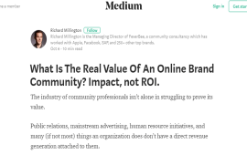 What Is The Real Value Of An Online Brand Community?