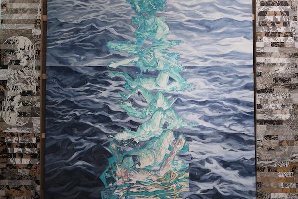 TPertuisot-L'EAU QUI PORTE,2020, oil on canvas, 200x280cm