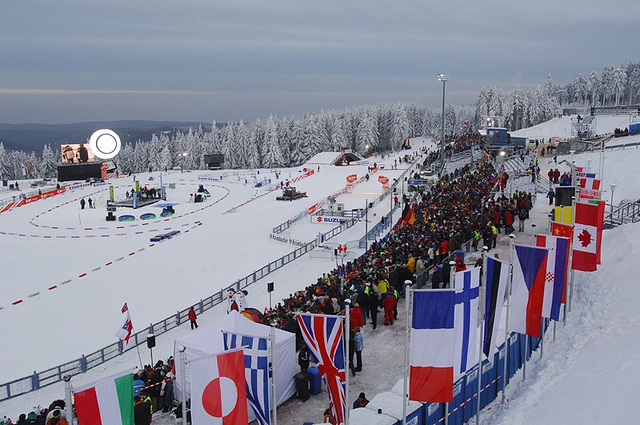 Jährliche Hochstimmung beim Biathlon Weltcup in Oberhof