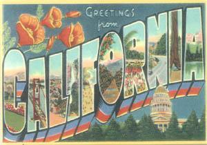 Ola! Estou na California!