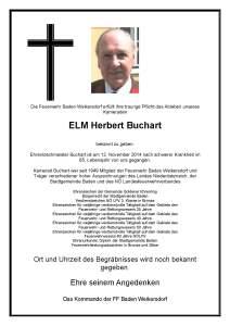 Ableben ELM Buchart