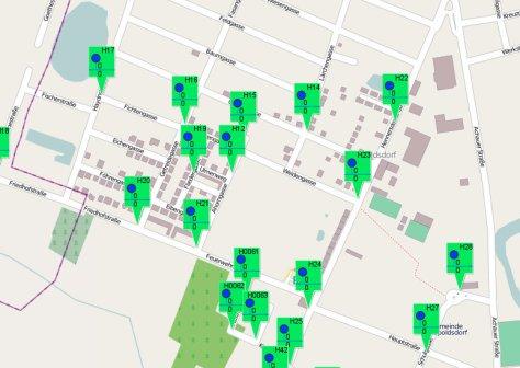 Übersichtskarte Hydranten