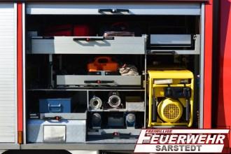 In dem Geräteraum 2 ist Material für Hilfeleistungen untergebracht und der Stromerzeuger hat hier sein Platz.