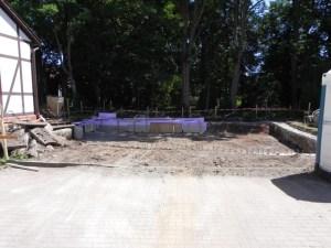 Bodenplatte und Rohbau