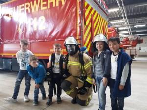 Kindergeburtstag bei der Feuerwehr