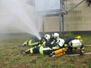 Training Flashover-Schutzreflex