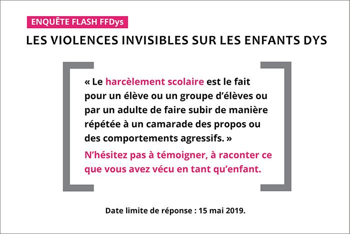violences invisibles sur les enfants Dys - 2019