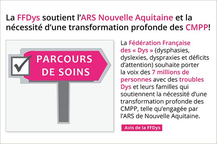 La FFDys soutient l'ARS Nouvelle Aquitaine qui porte la transformation profonde des CMPP!